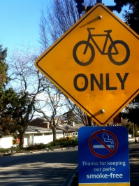 Bicycles only sign