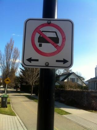 No cars sign