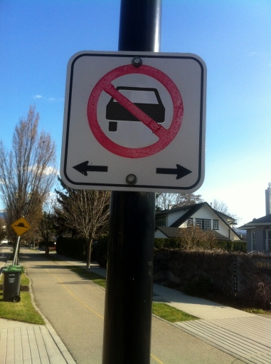 No cars sign
