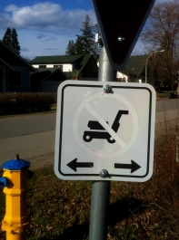 No lawn mowers sign